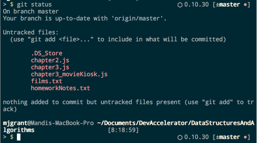 Thanks, but no thanks, git. I don't want that .DS_Store file in my git repository.