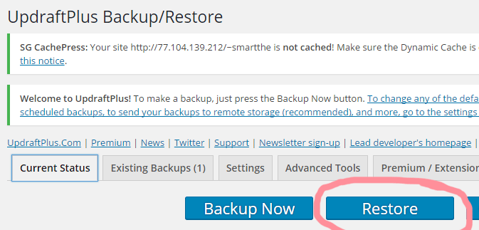 updraftplus_restore