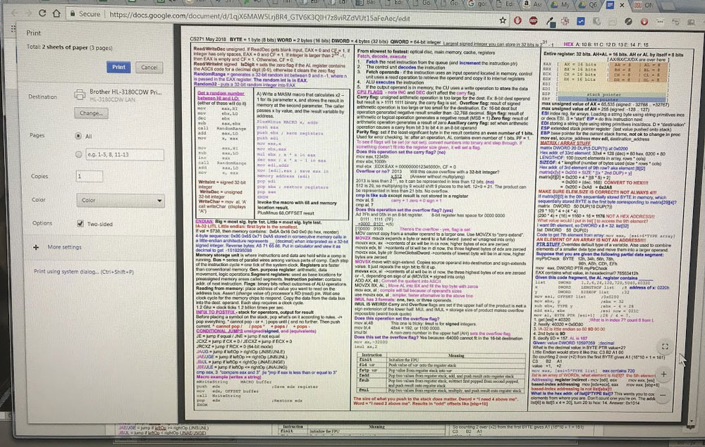 OSU online CS review – Today I Learned… in Code