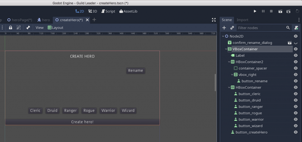 Godot 3 0 Tutorial: Building a simple character creation